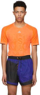 adidas x Kolor Orange Primeknit T-Shirt