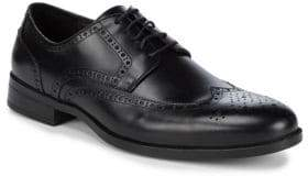 Saks Fifth Avenue Leather Blucher Perforated Dress Shoes