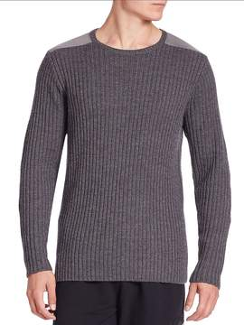 Ovadia & Sons Men's Cable Knit Wool Sweater
