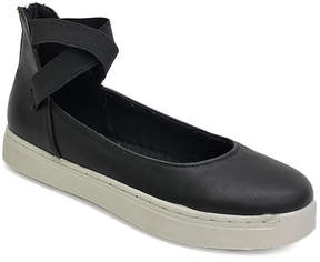 Bamboo Black Strap-Accent Grand Slam Sneaker