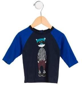 Little Marc Jacobs Boys' Graphic Long Sleeve Shirt