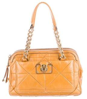 Marc Jacobs Quilted Patent Leather Shoulder Bag - YELLOW - STYLE