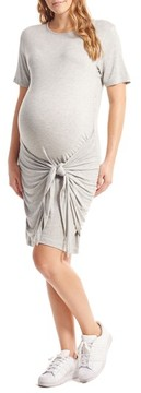 Everly Grey Women's Maya Maternity/nursing Tie Waist Dress