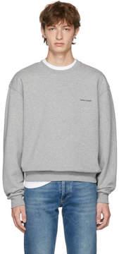 Balenciaga Grey Small Logo Sweatshirt