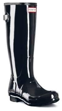 Hunter Back-Adjustable Gloss Rain Boots