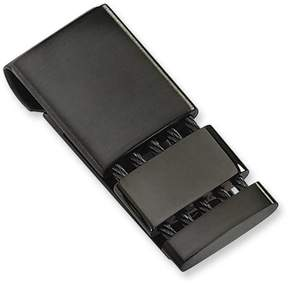 Zales Men's Divided Cable Money Clip in Stainless Steel with Black IP (3 Lines)