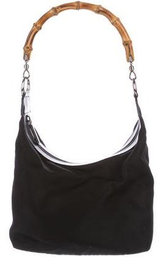 Gucci Vintage Bamboo Hobo - BLACK - STYLE