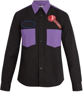 Acne Studios Seattle key-print twill shirt