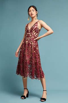 Dress the Population Sequined Floral Dress