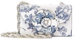 Oscar de la Renta Toile du Jouy Leather TRO Bag