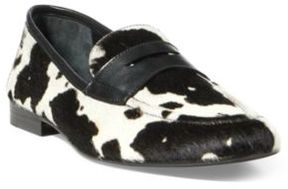 Ralph Lauren Ashtyn Haircalf Penny Loafer Cow Print 5.5