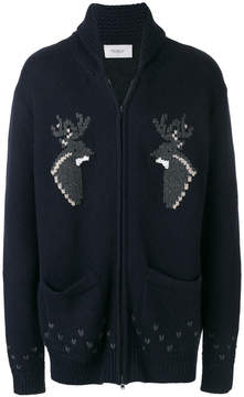 Pringle reindeer jacquard cardigan