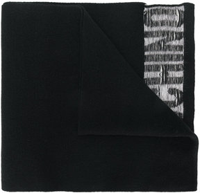 Moschino inverted logo scarf
