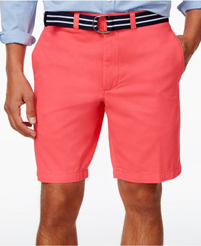 Club Room Men's Estate Flat-Front Shorts with Belt 9 Inseam, Created for Macy's