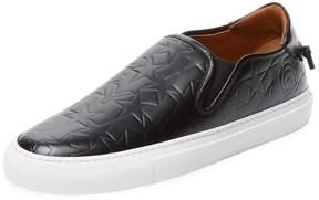 Givenchy Men's Embossed Stars Slip-On Sneaker