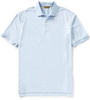 Roundtree & Yorke Gold Label Short Sleeve Jaquard Non-Iron Polo