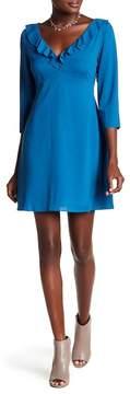 Cooper & Ella Signe V-Neck Ruffle Dress