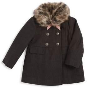 Jessica Simpson Little Girl's Faux Fur-Trimmed Coat