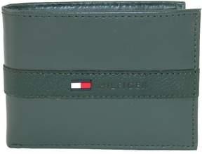 Tommy Hilfiger Men's Leather Ranger Passcase Billfold Wallet, Olive