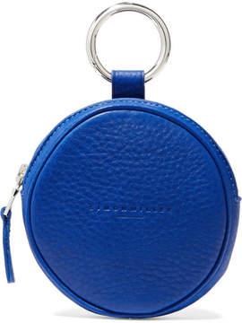 Simon Miller Circle Pop Textured-leather Pouch - Cobalt blue