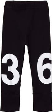 Nununu Black Numbered Leggings