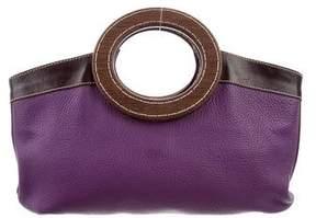 Miu Miu Leather Top Handle Satchel