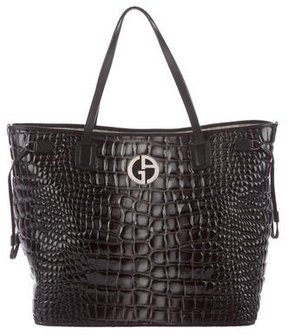 Giorgio Armani Ombré Embossed Leather Tote
