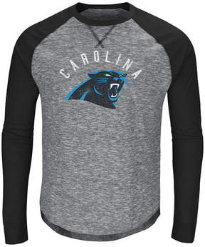 Majestic Men's Carolina Panthers Corner Blitz Raglan Long Sleeve T-Shirt