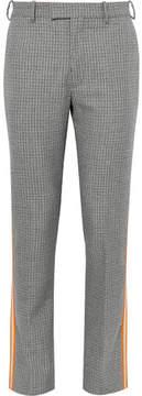 Calvin Klein Slim-Fit Grosgrain-Trimmed Houndstooth Virgin Wool Trousers