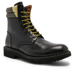 Givenchy Tank Leather Combat Boots in Black.