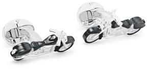 Deakin & Francis Motorbike Sterling Silver Cufflinks