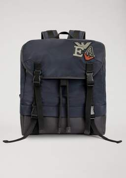 Emporio Armani Technical Fabric Backpack With Patches