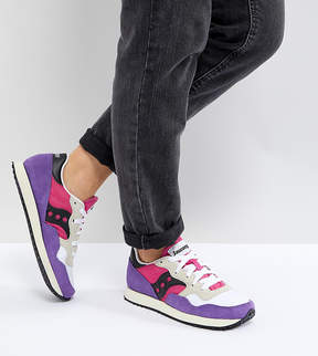 Saucony Dxn Vintage Sneakers In Pink and Purple