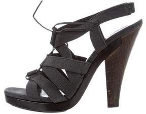 Calvin Klein Collection Lace-Up Cage Sandals