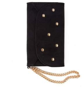 7 For All Mankind Velvet Wristlet Iphone Case In Black