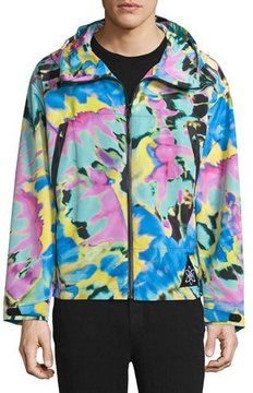 Moschino Zip-Front Long-Sleeve Jacket, Tie Dye/Multi