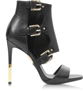 Balmain Alienor Black Leather Sandals