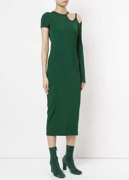 CHRISTOPHER ESBER Dual Strap Single Sleeve Dress Green