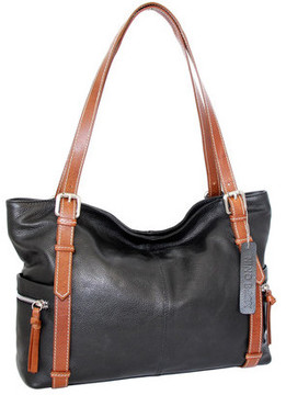 Women's Nino Bossi Tia's Leather Tote Bag