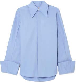 Awake Strict Cotton-poplin Shirt - Blue