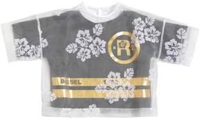 Diesel Cotton Jersey & Organza T-Shirt
