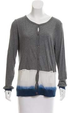 Clu Ombré-Trimmed Long Sleeve Cardigan