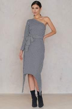 NA-KD Na Kd One Sleeve Gingham Dress