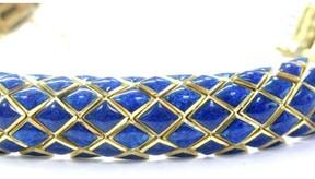 David Webb 18Kt Blue Enamel Yellow Gold Bracelet