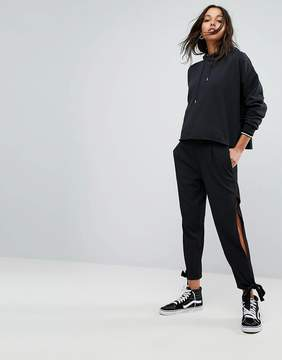 Noisy May High Waisted PANTS With Tie Detail Cuff