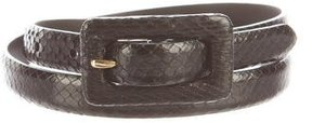 Ralph Lauren Thin Python Belt