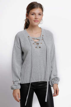 Anama Lace Up Front Pullover