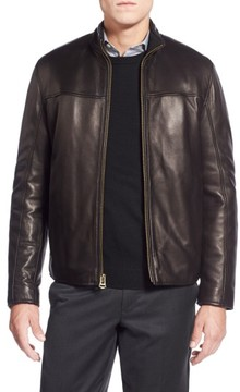 Cole Haan Men's Lambskin Leather Moto Jacket