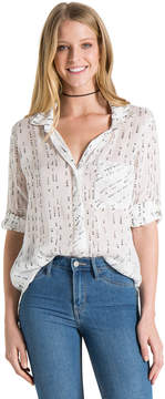Bella Dahl Shirt Tail Button Down-White-XS