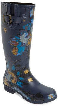 Chooka Women's Nina Floral Mid Calf Rain Boot